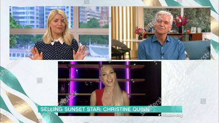 Phillip Schofield, Holly Willoughby and Christine Quinn