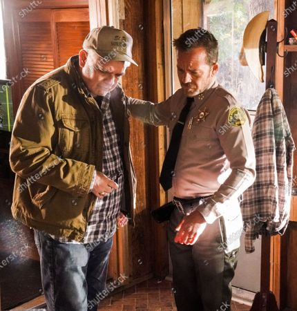 Stock Image of Michael Harney as William Hollister Sr. and Stephen Dorff as Sheriff Bill Hollister