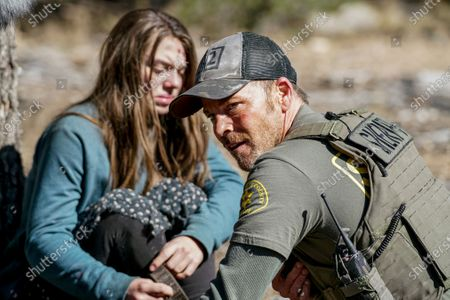 Stock Image of Caitlin Carmichael as Tulsa and Stephen Dorff as Sheriff Bill Hollister