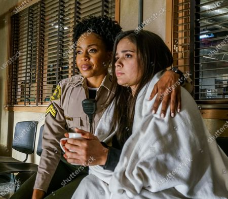 Stock Image of Danielle Mone Truitt as as Charlie Minnick and Marisela Zumbado as Izzy