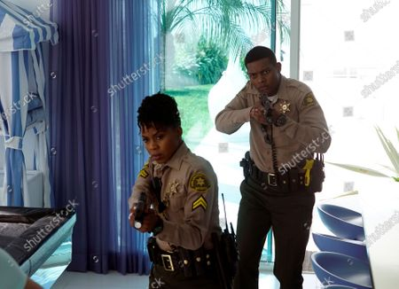 Danielle Mone Truitt as Charlie Minnick and Shane Paul McGhie as Deputy Joseph Harris