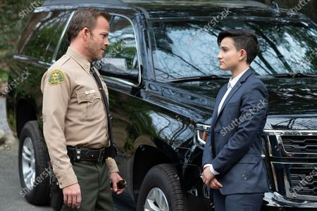 Stephen Dorff as Sheriff Bill Hollister and Bex Taylor-Klaus as Deputy Brianna Bishop