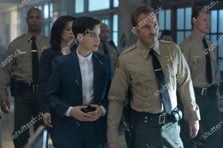 Bex Taylor-Klaus as Deputy Brianna Bishop and Stephen Dorff as Sheriff Bill Hollister