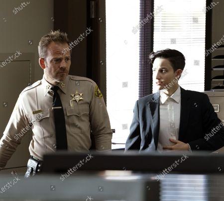 Stephen Dorff as Sheriff Bill Hollister and Bex Taylor-Klaus as Deputy Brianna Bishop