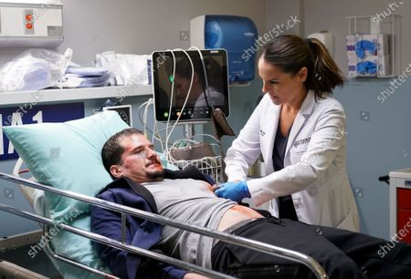 Stock Photo of Eric Steinig as Jared and Yara Martinez as Dr. Paula Reyes