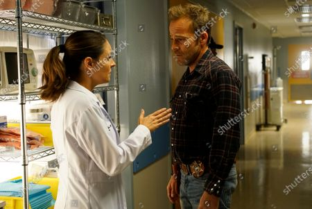 Yara Martinez as Dr. Paula Reyes and Stephen Dorff as Sheriff Bill Hollister