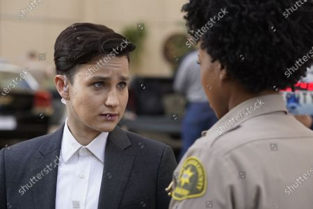 Stock Photo of Bex Taylor-Klaus as Deputy Brianna Bishop and Danielle Mone Truitt as Charlie Minnick