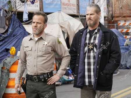 Stock Photo of Stephen Dorff as Sheriff Bill Hollister and Brian Van Holt as Detective Cade Ward