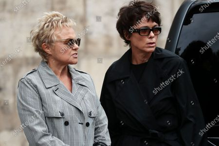 Muriel Robin (L) and her partner French actress Anne Le Nen (R) attend the funeral ceremony of the French actor Guy Bedos at the Church of Saint-Germain-des-Pres in Paris, France, 04 June 2020. Bedos died at the age of 85 in Paris on 28 May 2020.