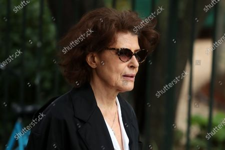 Fanny Ardant attends the funeral ceremony of the French actor Guy Bedos at the Church of Saint-Germain-des-Pres in Paris, France, 04 June 2020. Bedos died at the age of 85 in Paris on 28 May 2020.