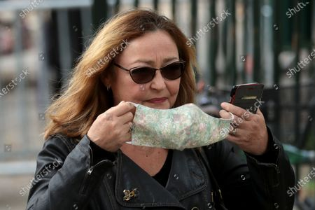 Catherine Frot wears a face mask as she attends the funeral ceremony of the French actor Guy Bedos at the Church of Saint-Germain-des-Pres in Paris, France, 04 June 2020. Bedos died at the age of 85 in Paris on 28 May 2020.