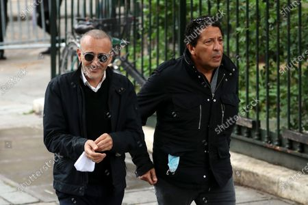 Elie Semoun (L) and Smain (R) attend the funeral ceremony of the French actor Guy Bedos at the Church of Saint-Germain-des-Pres in Paris, France, 04 June 2020. Bedos died at the age of 85 in Paris on 28 May 2020.