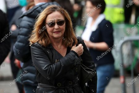 Catherine Frot attends the funeral ceremony of the French actor Guy Bedos at the Church of Saint-Germain-des-Pres in Paris, France, 04 June 2020. Bedos died at the age of 85 in Paris on 28 May 2020.