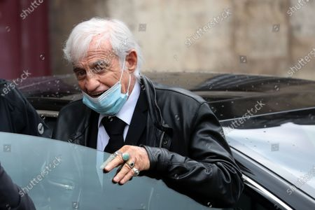 Jean-Paul Belmondo wears a face mask as he attends the funeral ceremony of the French actor Guy Bedos at the Church of Saint-Germain-des-Pres in Paris, France, 04 June 2020. Bedos died at the age of 85 in Paris on 28 May 2020.