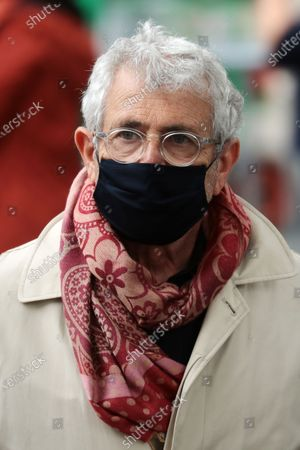 French actor and Ramatuelle Festival artistic director Michel Boujenah, who recovered from a COVID-19 infection, wears a face mask as he attends the funeral ceremony of the French actor Guy Bedos at the Church of Saint-Germain-des-Pres in Paris, France, 04 June 2020. Bedos died at the age of 85 in Paris on 28 May 2020.