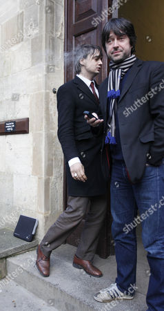 Pete Doherty and manager Andy Boyd.