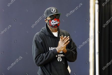Stock Photo of Former NBA player Stephen Jackson arrives, before a memorial service for George Floyd in Minneapolis