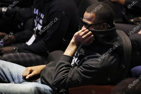 Stock Picture of Former NBA player Stephen Jackson attends a memorial service for George Floyd at North Central University, in Minneapolis