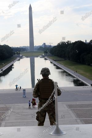 National Guard stand guard and provide limited access at the Lincoln Memorial as D.C. preps for another Day of George Floyd protests
