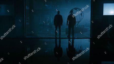 Jeffrey Wright as Bernard Lowe and Luke Hemsworth as Ashley Stubbs