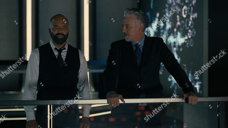 Stock Image of Jeffrey Wright as Bernard Lowe and Tommy Flanagan as Martin Connells