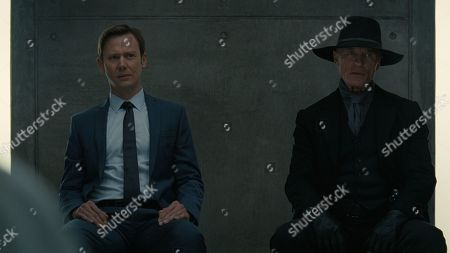 Stock Image of Jimmi Simpson as William and Ed Harris as Man in Black
