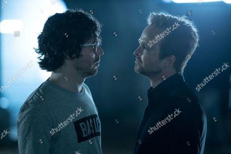 John Gallagher Jr as Liam Dempsey and Aaron Paul as Caleb Nichols
