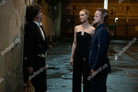Stock Image of John Gallagher Jr as Liam Dempsey, Evan Rachel Wood as Dolores Abernathy and Aaron Paul as Caleb Nichols