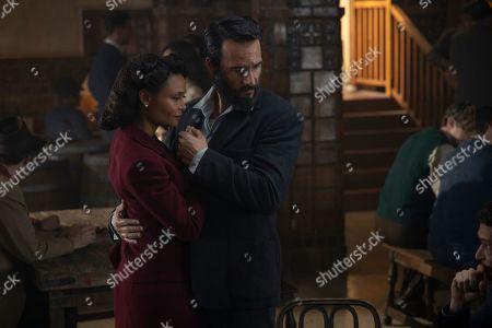 Thandiwe Newton as Maeve Millay and Rodrigo Santoro as Hector Escaton/Ettore