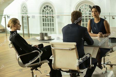 Evan Rachel Wood as Dolores Abernathy and Aaron Paul as Caleb Nichols