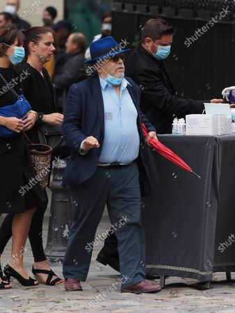 Stock Image of Jean-Michel Ribes. The funeral of comedian and humorist Guy Bedos who died on May 28 at the age of 85 took place this Thursday June 4 at the Saint-Germain-des-Pres church in Paris. Many personalities came to support his family.