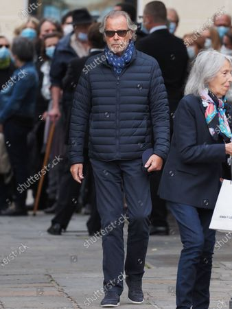 Stock Image of Michel Leeb. The funeral of comedian and humorist Guy Bedos who died on May 28 at the age of 85 took place this Thursday June 4 at the Saint-Germain-des-Pres church in Paris. Many personalities came to support his family.
