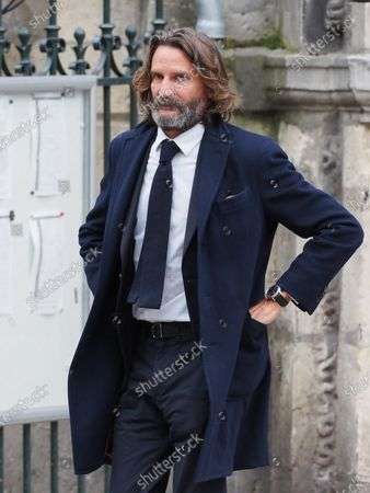 Stock Image of Frederic Beigbeder. The funeral of comedian and humorist Guy Bedos who died on May 28 at the age of 85 took place this Thursday June 4 at the Saint-Germain-des-Pres church in Paris. Many personalities came to support his family.
