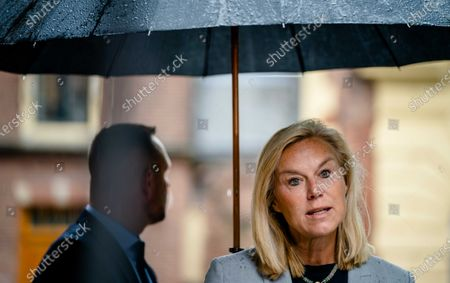 Dutch Minister Sigrid Kaag for Foreign Trade and Development Cooperation (D66) upon arrival at the Binnenhof for the weekly Council of Ministers, in The Hague, The Netherlands, 05 June 2020.
