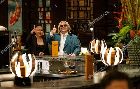 Suzy Nakamura as Iris Kimura and Josh Gad as Herman Judd