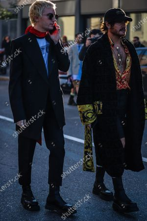 Editorial picture of On the street of Milan, Milan, Italy, Italy - 12 Jan 2020