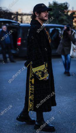 Editorial image of On the street of Milan, Milan, Italy, Italy - 12 Jan 2020