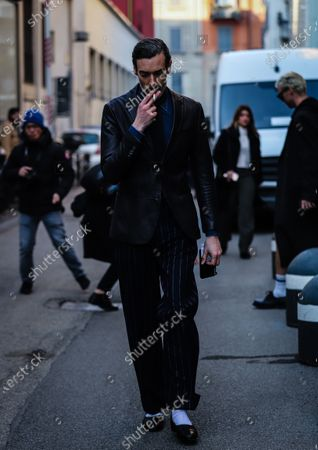 Editorial picture of On the street of Milan, Milan, Italy, Italy - 13 Jan 2020