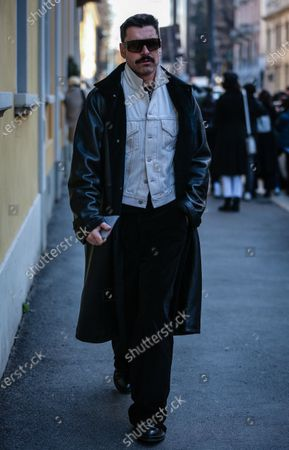 Editorial photo of On the street of Milan, Milan, Italy, Italy - 21 Feb 2020