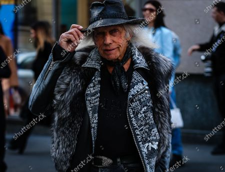 Stock Image of MILAN, Italy- February 21 2020: James Goldstein on the street during the Milan Fashion Week.