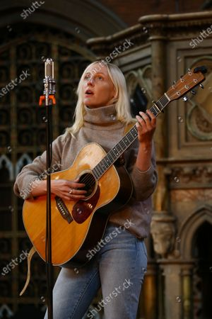 Stock Picture of British singer songwriter Laura Marling performs at the Union Chapel in north London, The concert is set to be live-streamed online to a limited number of ticket holders and will involve skeletal staff and crew due to the ongoing COVID-19 pandemic