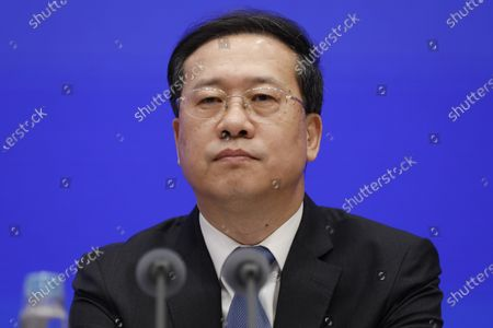Ma Zhaoxu, Vice Minister of Foreign Affairs, attends a press conference by the State Council Information Office to release the White Paper on fighting COVID-19 China in action, in Beijing, China, 07 June 2020.