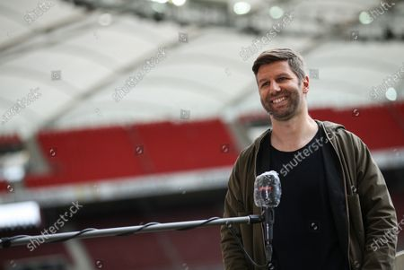 Stuttgart's director of sports Thomas Hitzlsperger addresses to media prior to the German Bundesliga second division soccer match between VfB Stuttgart and VfL Osnabrueck in Stuttgart, Germany, 07 June 2020.
