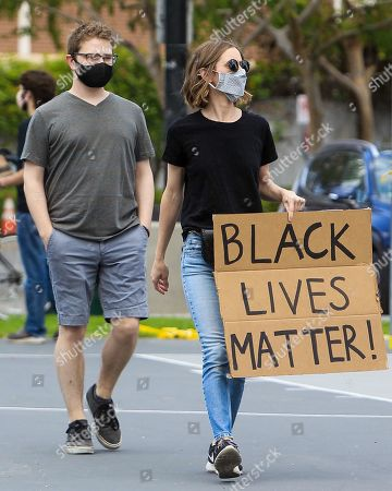 Editorial photo of Black Lives Matter Protest, Los Angeles, California, USA - 06 Jun 2020