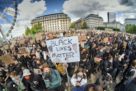 An anti-racism protest, across Belgium, several BLM - protests are organised, in support of the protests and anti-racism movement in the USA, following the death of George Floyd, an innocent black man killed by a white police officer.