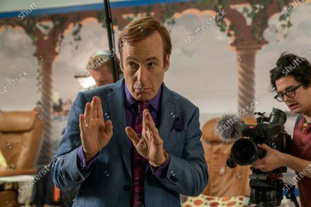 Julian Bonfiglio as Sound Guy, Bob Odenkirk as Jimmy McGill and Josh Fadem as Camera Guy
