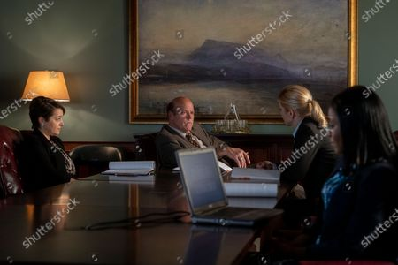 Stock Picture of Cara Pifko as Paige Novick, Rex Linn as Kevin Wachtell and Rhea Seehorn as Kim Wexler