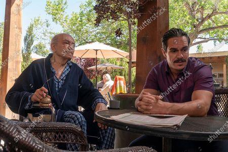 Stock Photo of Mark Margolis as Don Hector Salamanca, Tony Dalton as Lalo Salamanca- Better Call Saul _ Season 5, Episode 2 - Photo Credit: Warrick Page/AMC/Sony Pictures Television