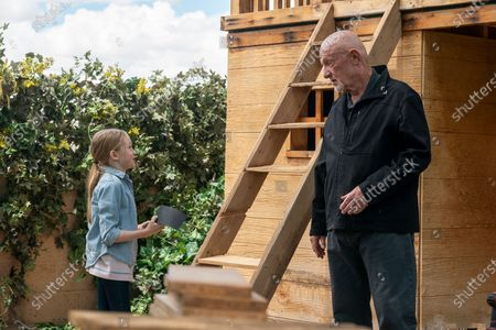 Juliet Donenfeld as Kaylee and Jonathan Banks as Mike Ehrmantraut