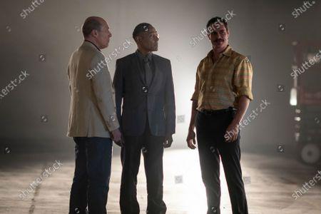 Stock Picture of Javier Grajeda as Juan Bolsa, Giancarlo Esposito as Gustavo 'Gus' Fring and Tony Dalton as Lalo Salamanca